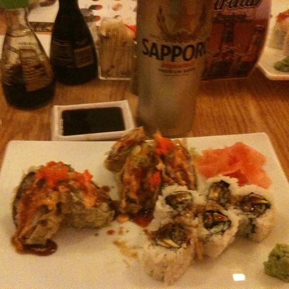 Volcano Roll And Eel Avacado Roll @ Haiku Sushi