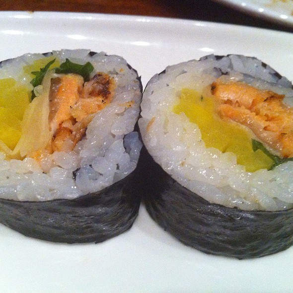 Grilled Salmon Harasu Roll @ Raku-An Asian Diner
