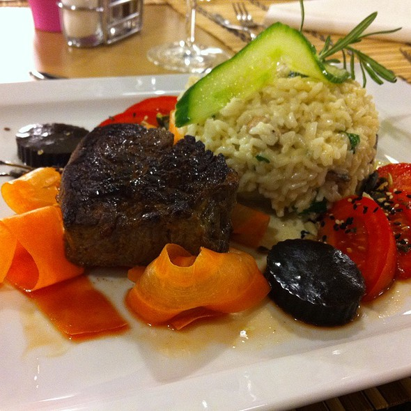 Fillet With Rice And Wine Jelly