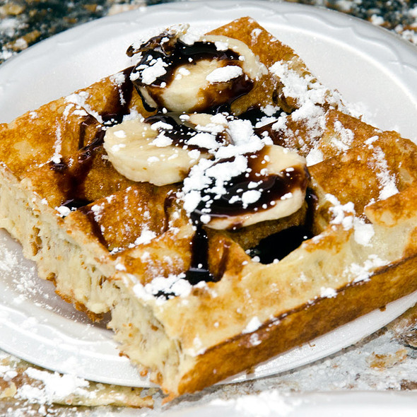 Chocolate Cream Banana Waffle  @ Wicked Waffle