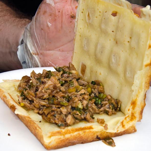 Hoisin Duck Waffle Sandwich @ Wicked Waffle