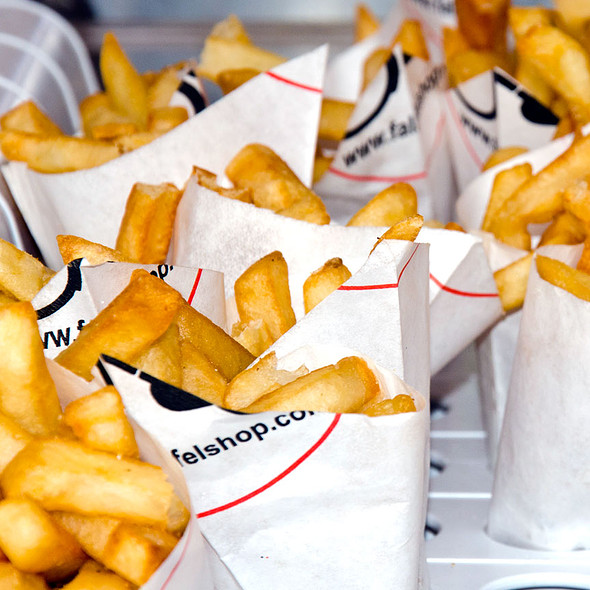 Twice Cooked Dutch Fries with Sauces @ Amsterdam Falafelshop