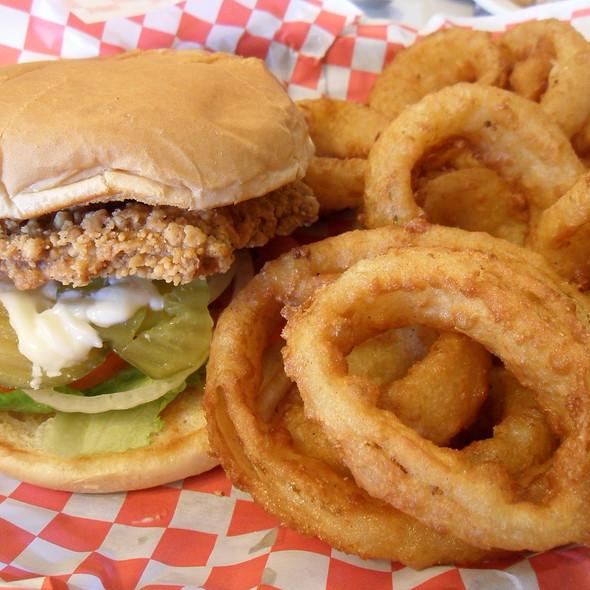 Chicken Fried Steak Sandwich @ Red Barn Cafe