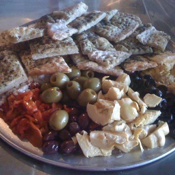 greek sampler platter @ D Note