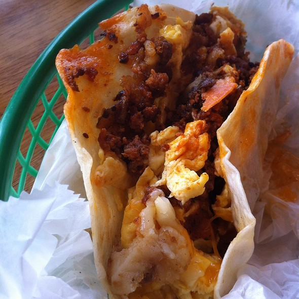 Basic Breakfast Taco @ District Taco