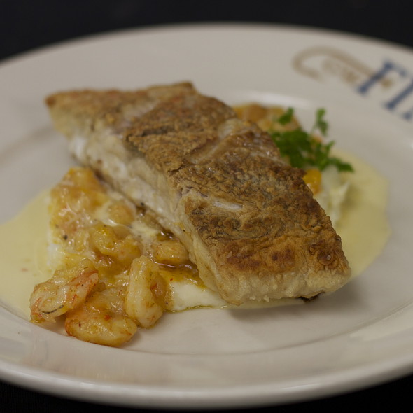 Sauteed American Red Snapper with shrimp etouffee & mashed potatoes @ GW Fins