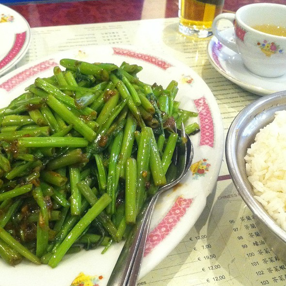 Kangkung Terasi @ Chinees Indisch Restaurant New Fat Kee