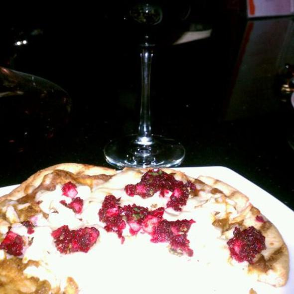 Pumpkin Flatbread With Cranberry Salsa @ Flight 112 Wine Bar