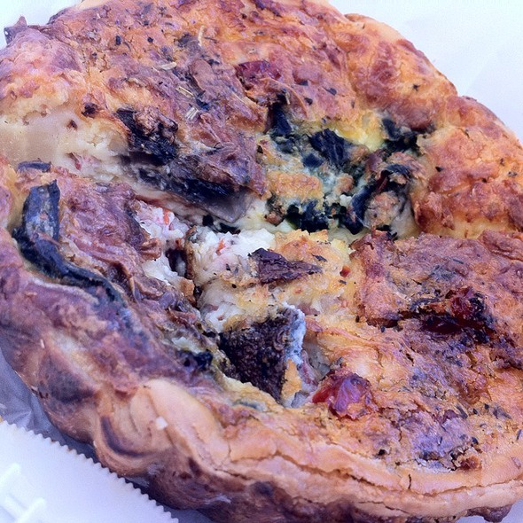 Vegetarian Quiche @ La Baguette French Bakery