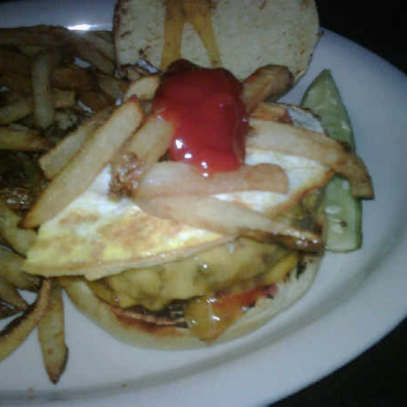 Hamburger with Fried Egg @ North Third Restaurant