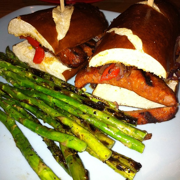 Spicy Sausage Sandwich @ Beachwood BBQ