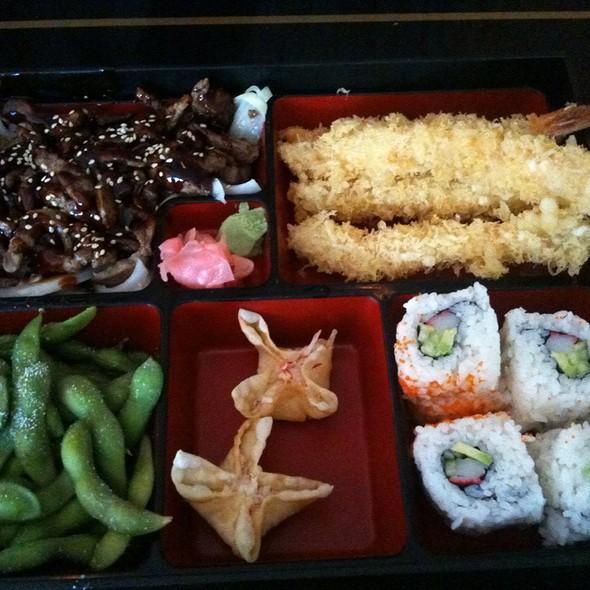 Teriyaki Beef And Shrimp Tempura Bento Box @ Nijiya Restaurant