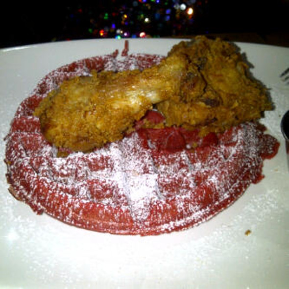 Red Velvet Waffle and fried Chicken @ Soco