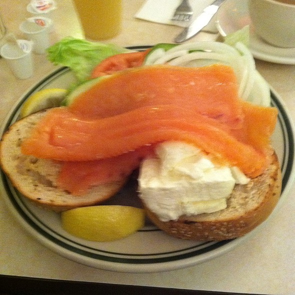 Bagel & Lox Platter @ Cafe Edison