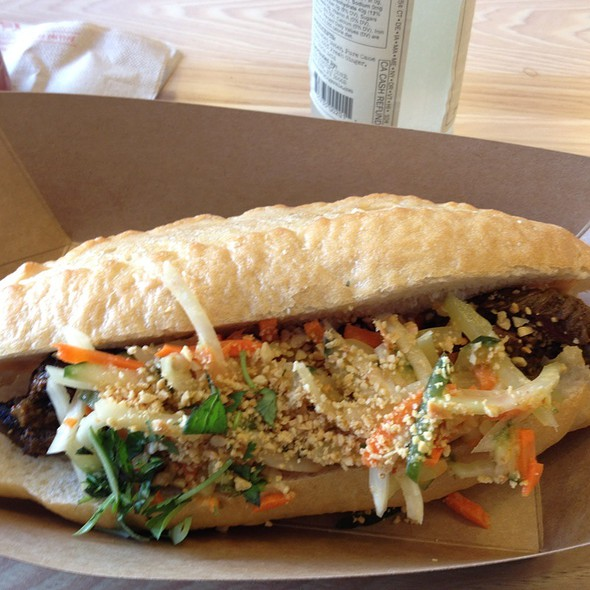 Grilled Steak Banh Mi Sandwich