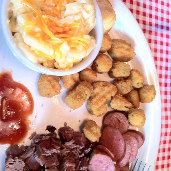 Brisket and Sausage link. @ Big Papa's BBQ