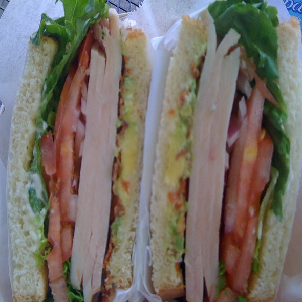 Turkey Avocado Club Sandwich @ Maxfield's House of Caffiene