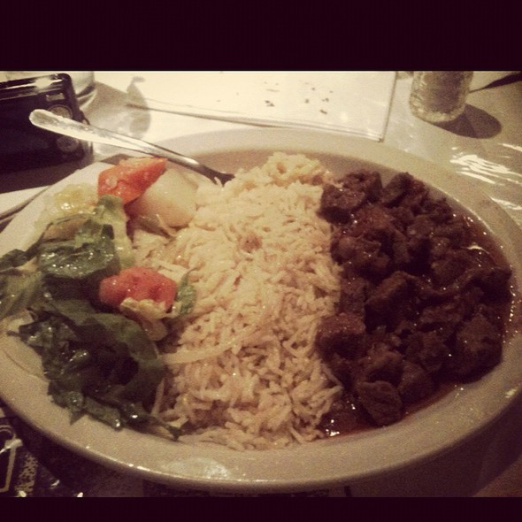 Tibs With Rice @ Meskerem Ethiopian Restaurant