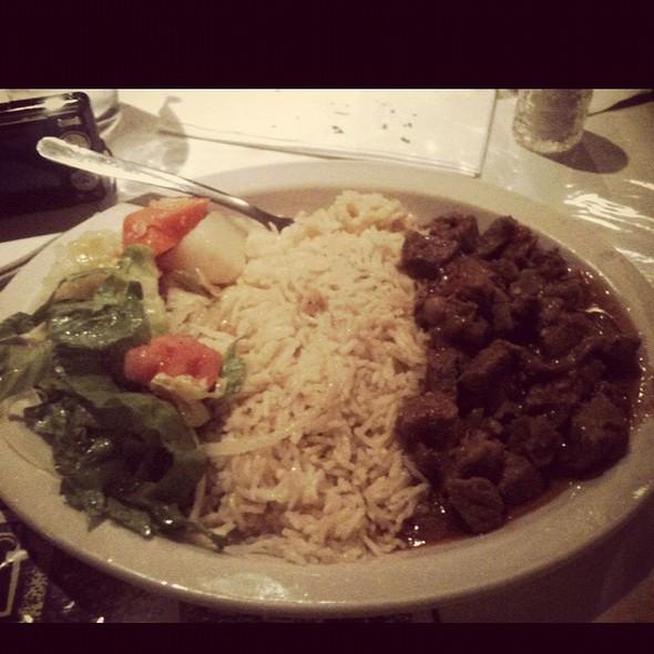 Tibs With Rice @ Meskerem Ethiopian Restaurant