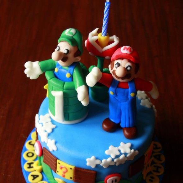 Mario bros theme cake @ Portia's Kitchen
