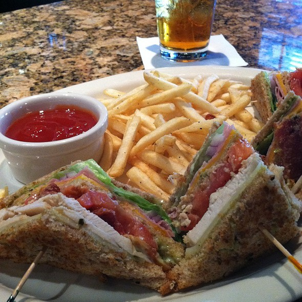 Club Sandwich--Lunch With Fries And Drink $7.50