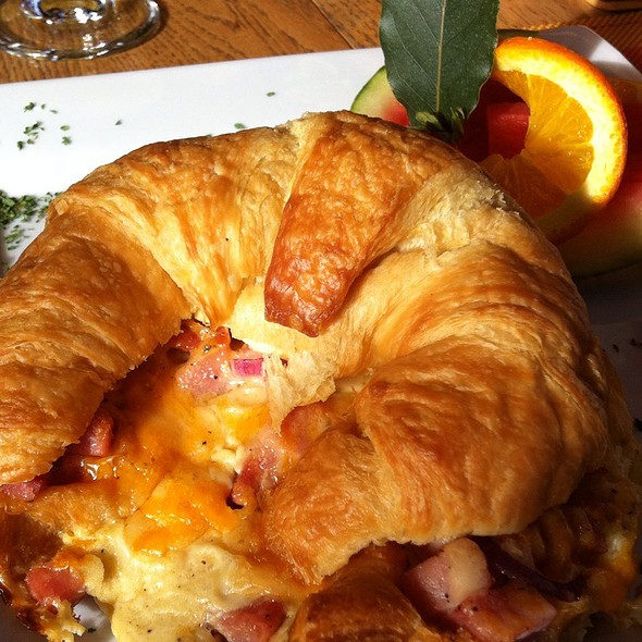 Ham and Cheese croissant @ Across The Harbour Bed And Breakfast