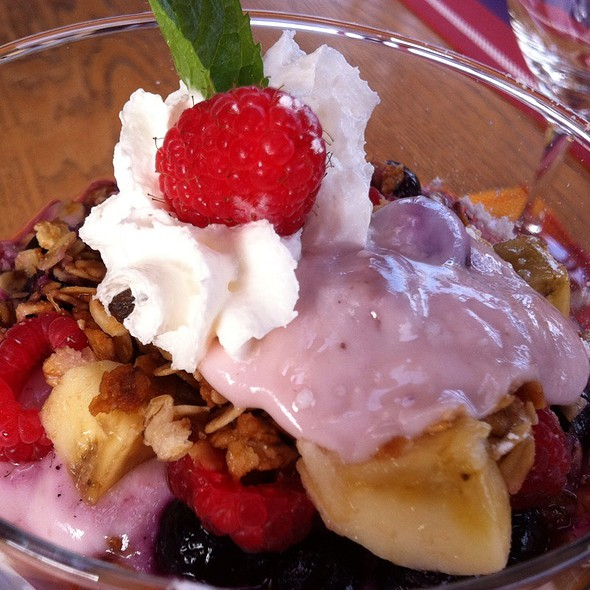 Yogourt With Granola And Fruit @ Across The Harbour Bed And Breakfast