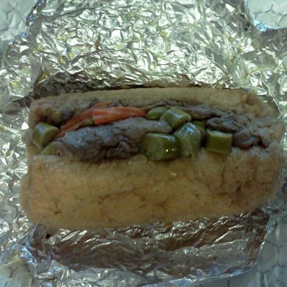 Italian Beef Sandwich @ DJ's Hot Dog Co.