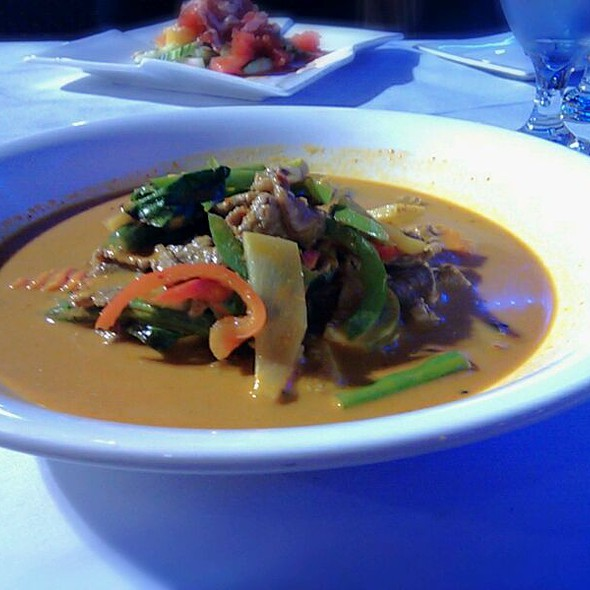 Red Curry with Beef @ Rain Restaurant LLC