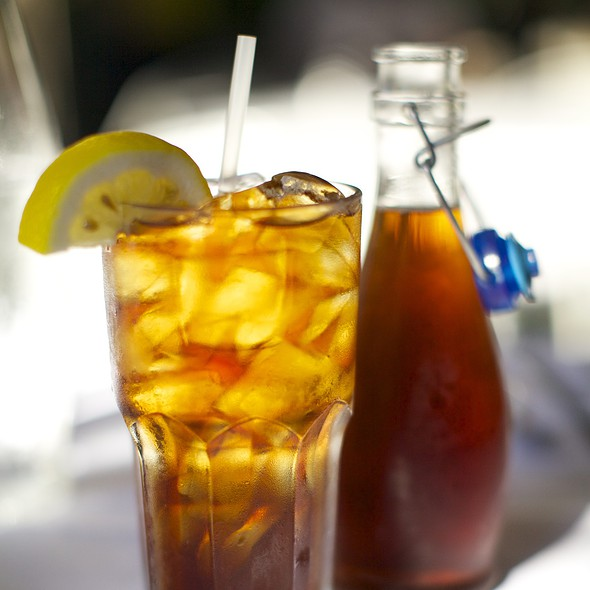 Iced tea @ Mediterranean Market & Grill