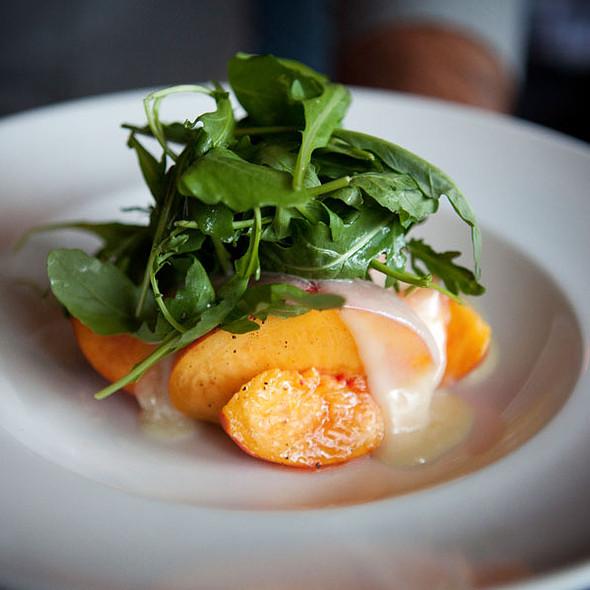 Goldbud Peaches, Warm Taleggio Cheese & Arugula Salad