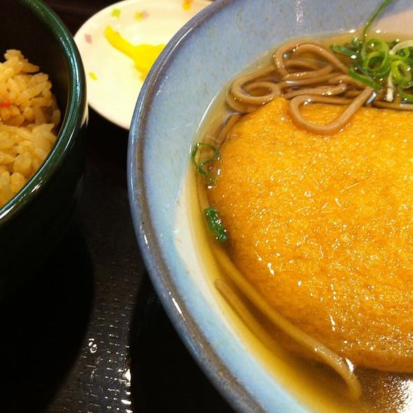 かやくご飯定食 たぬき。 @ 阪急そば 梅田駅 京都線