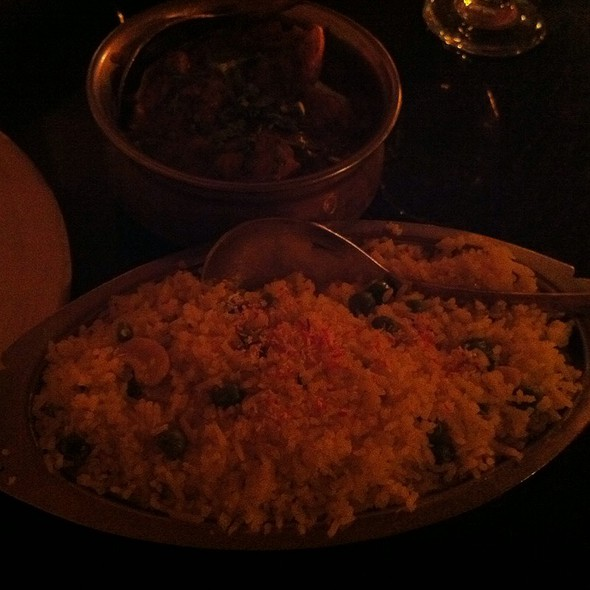 Chicken Curry With Saffron Rice - Little India Restaurant - Wash Park/DU, Denver, CO