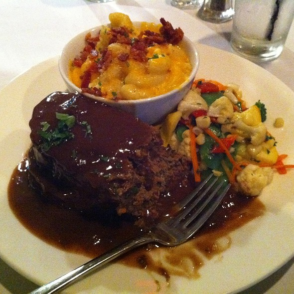 Meat Loaf And Mac N' Cheese With Bacon On Top - Oceanview Restaurant, Montrose, CA