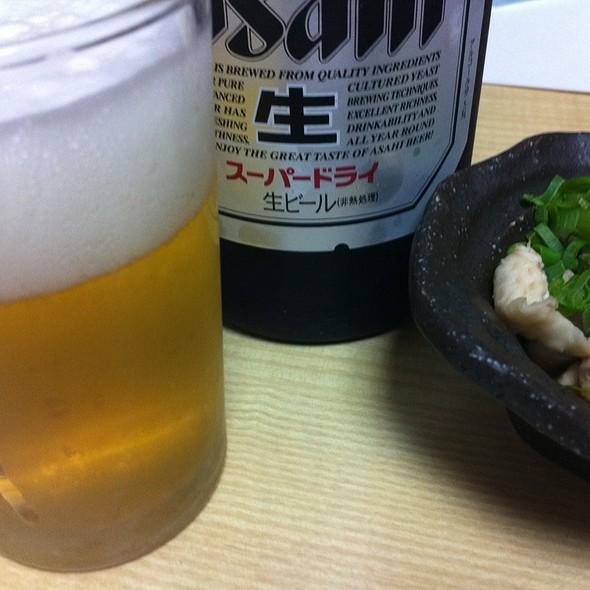 とりあえず麦酒。 @ 宮崎の地鶏