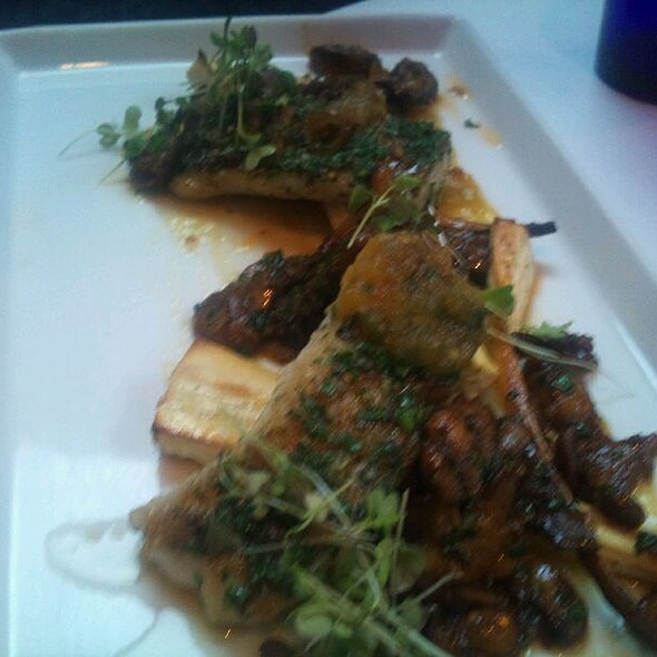 Seared Pike,  Parship, Green Tomato Jam, Wild Mushrooms @ Atwood