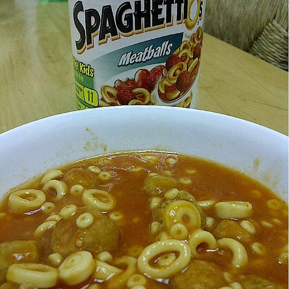 SpaghettiOs with Meatballs @ (a)(u)(d)'(s)
