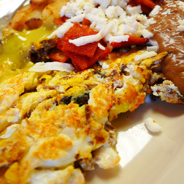 Beef Machacado & Eggs @ Tostada Regia