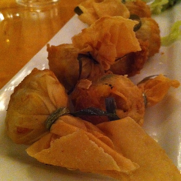 Crispy Crab Wontons @ Thai Patio-Hollywood