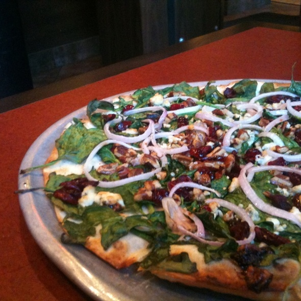 Thin Crust Spinach Pizza @ Pizza Luce Downtown