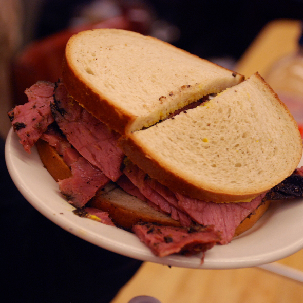 Pastrami on Rye with Brown Mustard