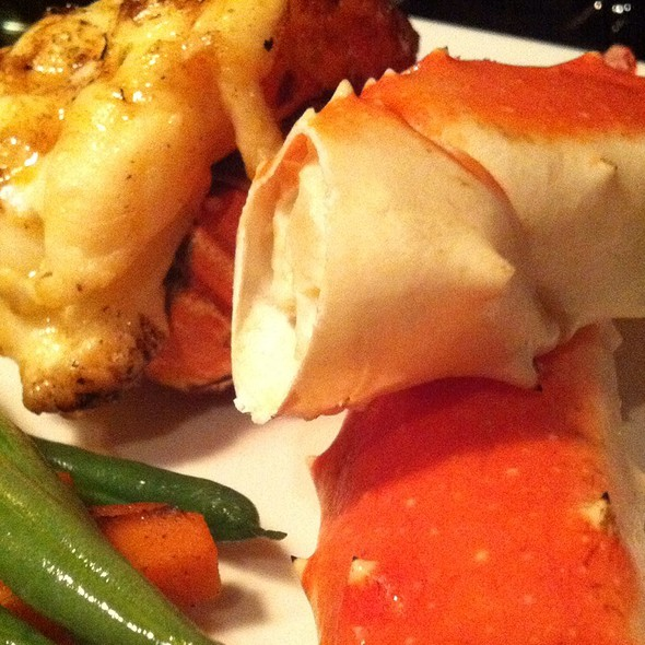 King Crab Legs And Lobster Tail - Nautical Nellies Steak & Seafood House, Victoria, BC