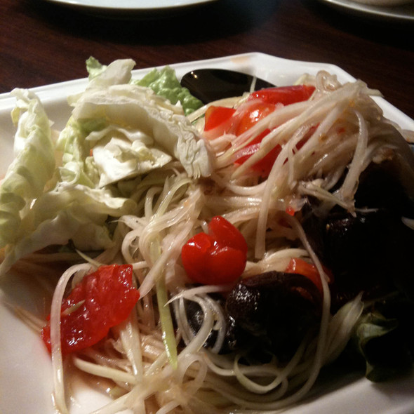 Green Papaya Salad With Salty Crab @ Sai Jai Thai Restaurant