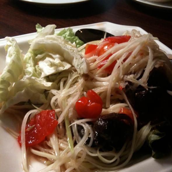 Green Papaya Salad With Salty Crab @ Sai Jai Thai Restaurant