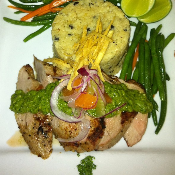 Corriander Encrusted Pork Tenderloin With Salsa Verde And Citrus Salad  - The Bistro, Bowling Green, KY