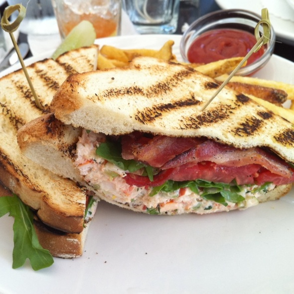 Lobster club sandwich at The Gray Goose