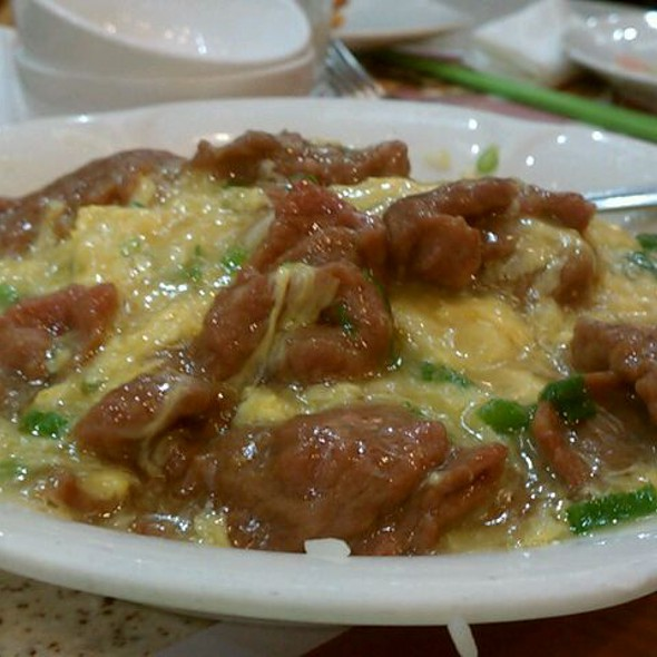 Slices Beef On Rice Over Eggs @ Tasty Garden
