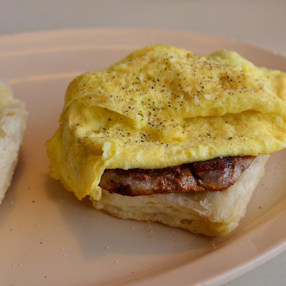 Egg and Tenderloin Biscuit @ The Pines Restaurant
