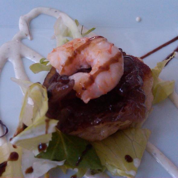 Viera a la plancha con langostino @ Restaurante Los Corales