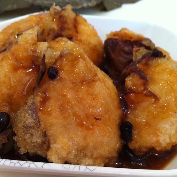 Pan Fried Stuffed Eggplant with Shrimp @ S&T Hong Kong Seafood Restaurant
